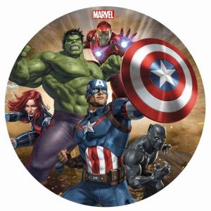Avengers New Round Edible Image