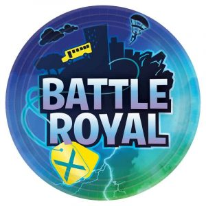 Battle Royal Edible Round Cake Image