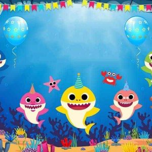 Baby Sharks Edible Cake Image A4