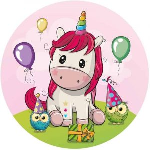 Baby Unicorn Round Edible Image