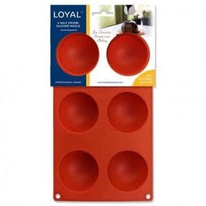 HALF SPHERE SILICONE MOULD – 6 CAVITY