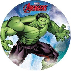 Hulk 2020 Round Edible Image