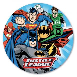 Justice League Hero's Round Edible Image