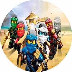 Lego Ninjago & Master Round Edible Image