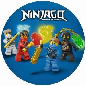 Lego Ninjago Round Edible Image