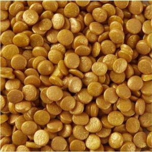 Gold Confetti Sprinkles 8mm 40g