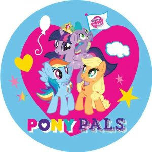 My Little Pony Blue Edible Round Cake Image