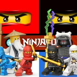 Ninjago Masters Edible Cake Image A4