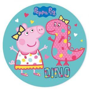 Peppa Pig Dino Round Edible Image
