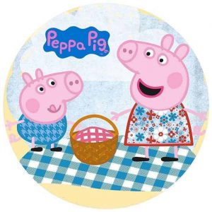 Peppa Pig Picnic Round Edible Image
