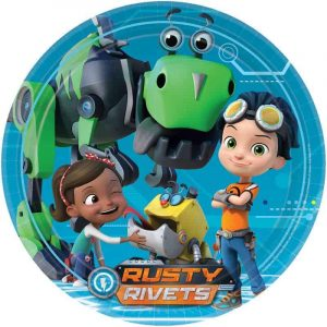 Rusty Rivets Edible Round Cake Image