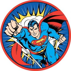 Superman Round Edible Image
