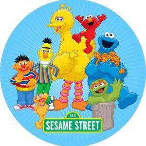 Sesame Street Round Edible Image