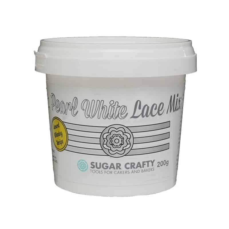 SUGAR CRAFTY PEARL WHITE LACE MIX 200G