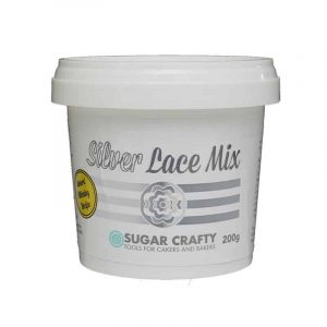 SUGAR CRAFTY SILVER LACE MIX 200G
