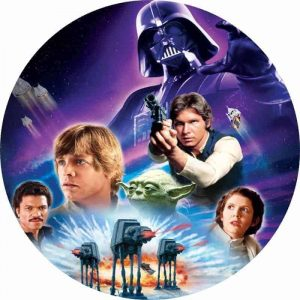 Star Wars Galaxy Round Edible Image