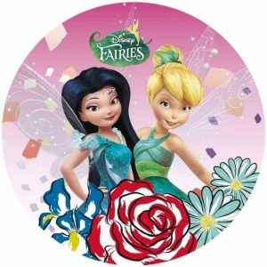 Tinkerbell & Silvermist Round Edible Image