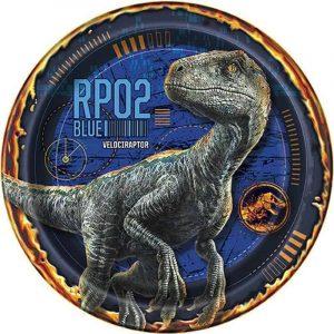 Velociraptor Edible Round Cake Image