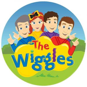 Wiggles Cartoon Round Edible Image