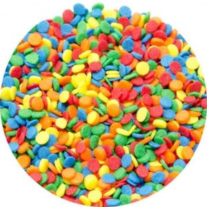 BRIGHT EDIBLE RAINBOW SEQUINS 40G