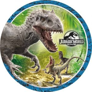 Jurasic World Round Edible Image